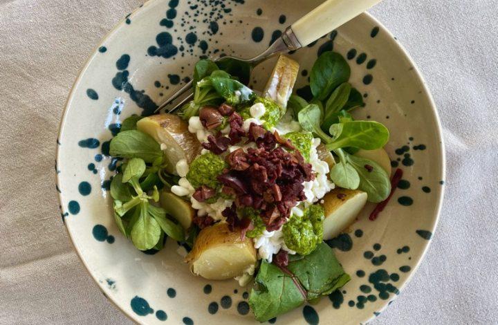 Saltkokad potatis med Keso och Ramslöksolja