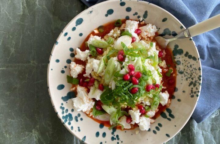 Bulgur i tomatsås med ayvar relish