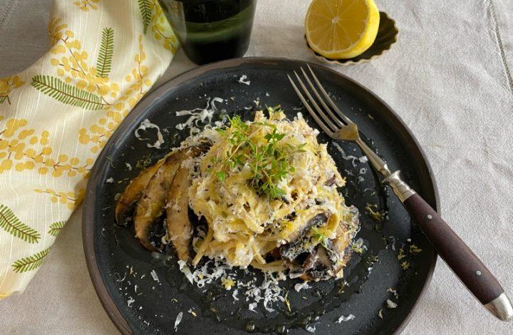 Färsk pasta med svamp och ricotta